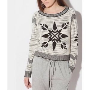BDG Nordic Fair Isle Snowflake Cotton Sweater